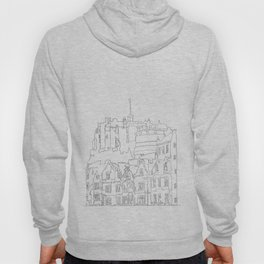 Edinburgh Castle in one continuous line Hoody