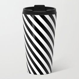Classic Stripes (Black&White) Travel Mug