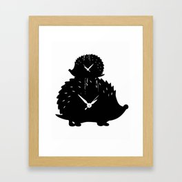 Timed Porcupine Framed Art Print