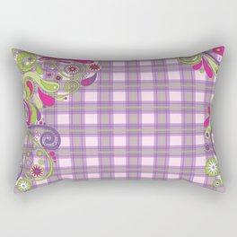 Paisley Plaid Rectangular Pillow