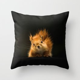 Starring Squirrel Throw Pillow