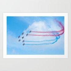 PAF - Patrouille de France - Hyeres637-2010 aircraft aviation  637 Art Print