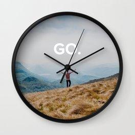 Go - Travel Photo Wall Clock