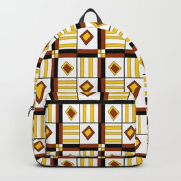 symetric tartan and gingham 10 -vichy, gingham,strip,square,geometric, sober,tartan Backpack