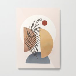 Minimal Abstract Shapes No.50 Metal Print