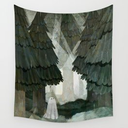 Pine Forest Clearing Wall Tapestry