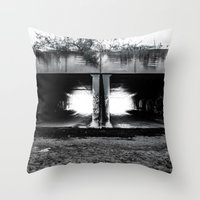 melbourne Throw Pillows featuring Melbourne Tunnels by Paul Vayanos