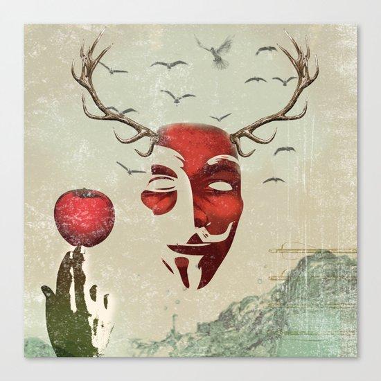 isaac and his apple Canvas Print