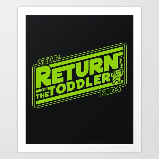 Star Kids: Return of the Toddler Art Print