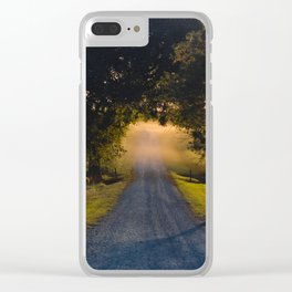 Best Farm Tree Sunset 1 Clear iPhone Case
