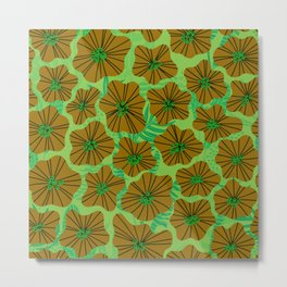Seamless flower pattern Metal Print