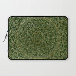 Mandala Royal - Green and Gold Laptop Sleeve