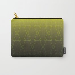 Pattern in yellow geometric shapes on overflow texture background Carry-All Pouch