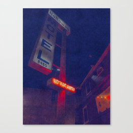 Hollywood Motel - No Vacancy Canvas Print