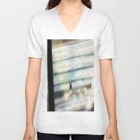 spider V-neck T-shirts featuring SPIDER by sincerelykarissa