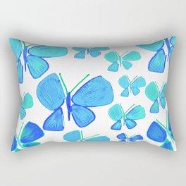 butterflies, butterfly print, butterfly illustration, butterfly pattern, art, print, design,  Rectangular Pillow