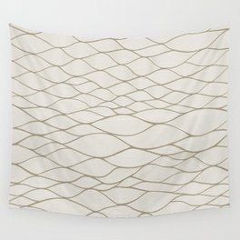 beige wave  Wall Tapestry