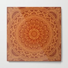Mandala Spice Metal Print