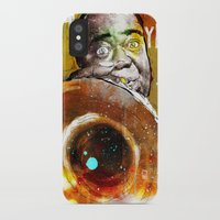 louis armstrong iPhone & iPod Cases featuring Louis Armstrong by Ed Pires