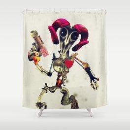 Invader Skull Shower Curtain