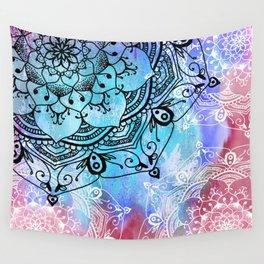 Bohemian Secret Blue & Pink Mandala Design Wall Tapestry