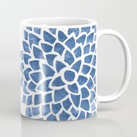 indigo Mugs featuring Indigo by Color and Form