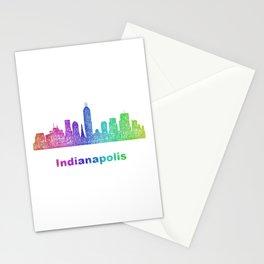 Rainbow Indianapolis skyline Stationery Cards