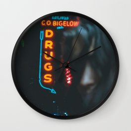 Drugs Neon Wall Clock