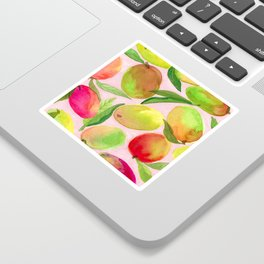 Mango Watercolor Painting Sticker