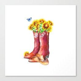 Western Sunflower Canvas Print