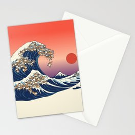 The Great Wave of Shiba Inu Stationery Cards