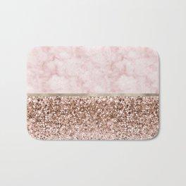 Warm chromatic - pink marble Bath Mat