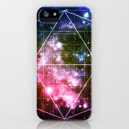 Rainbow Galaxy Sacred Geometry : Golden Rectangles iPhone Case