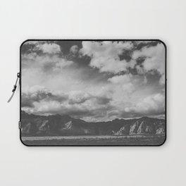 Red Rock Canyon, Las Vegas, Nevada. Mountain Black and White Photograph Laptop Sleeve