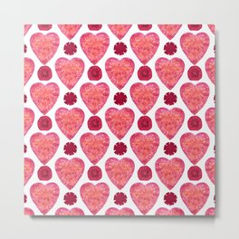Hearts and Flowers for Valentine's Day Metal Print