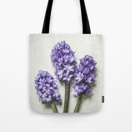Three Lilac Hyacinth Tote Bag