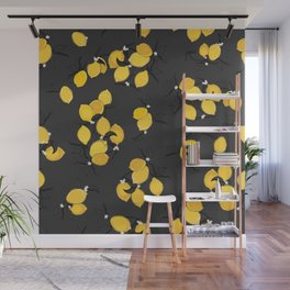 When life gives you lemons - black Wall Mural