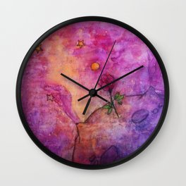 The Little Prince's Planet Wall Clock