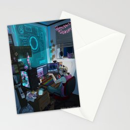 Modern Male Witch: Home Office Stationery Cards