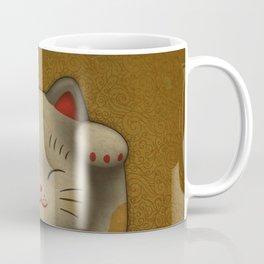 maneki-neko | Lucky Cat (White) Coffee Mug