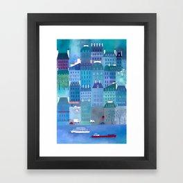 Paris Blues Framed Art Print