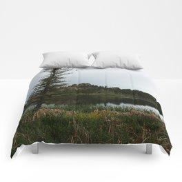 Moody Evening  At Sylvan Lake Comforters