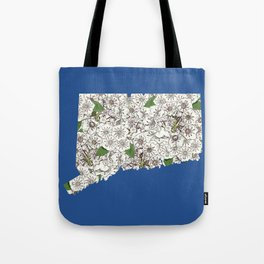Connecticut in Flowers Tote Bag