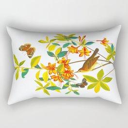 Vintage Floral Illustration Rectangular Pillow