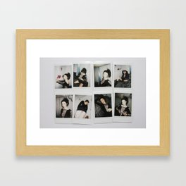 Polaroids Framed Art Print