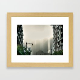Foggy Presidential Towers Framed Art Print