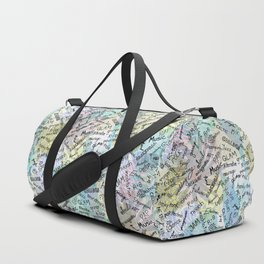 Colourful Music Categories Handwriting Duffle Bag