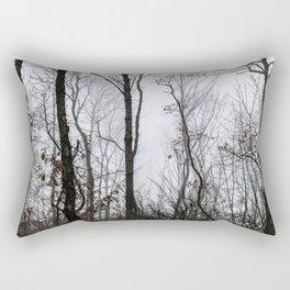 Trees in the fog Rectangular Pillow