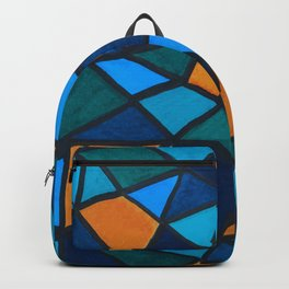 Blues and Gold Triangles Backpack