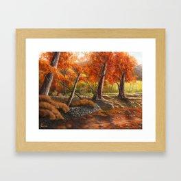 Forest in the Spirit of Red Framed Art Print